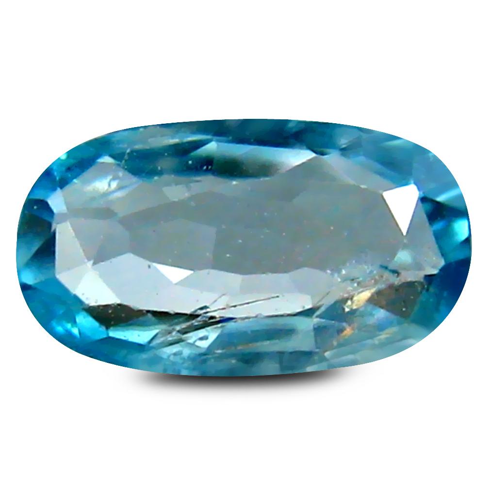 0.95 ct Magnificent Oval Cut (9 x 5 mm) Cambodia Blue Blue Zircon Natural Gemstone