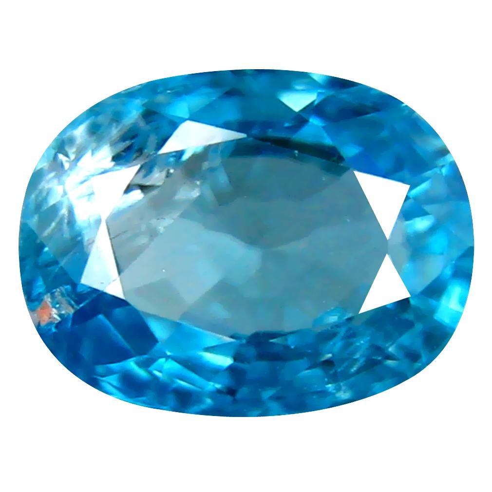 2.91 ct Beautiful Oval Cut (9 x 7 mm) Cambodian Blue Zircon Natural Loose Gemstone