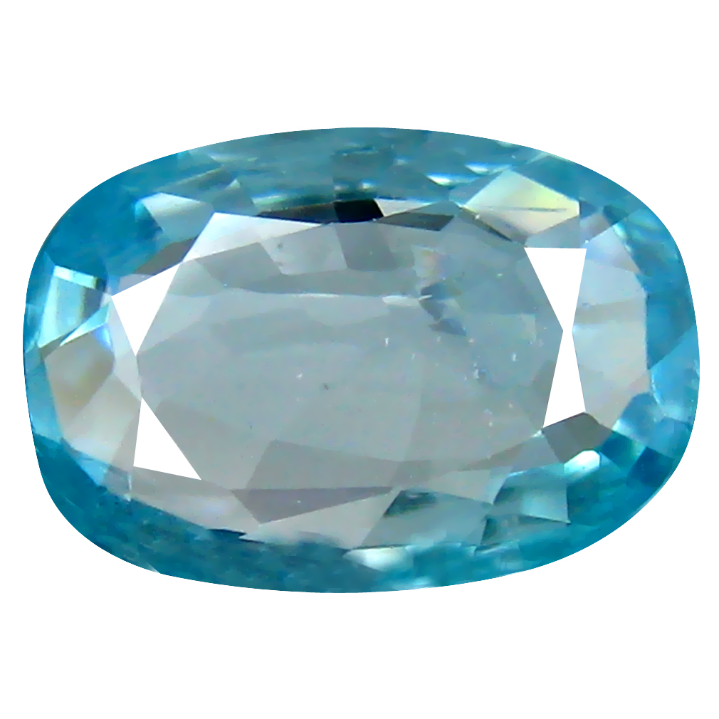 3.12 ct Outstanding Oval Cut (11 x 7 mm) Cambodian Blue Zircon Natural Loose Gemstone