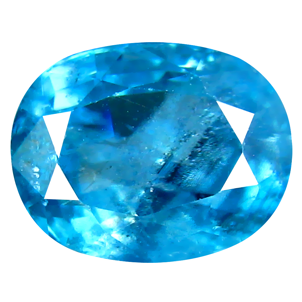 3.47 ct First-class Oval Cut (9 x 7 mm) Cambodian Blue Zircon Natural Loose Gemstone