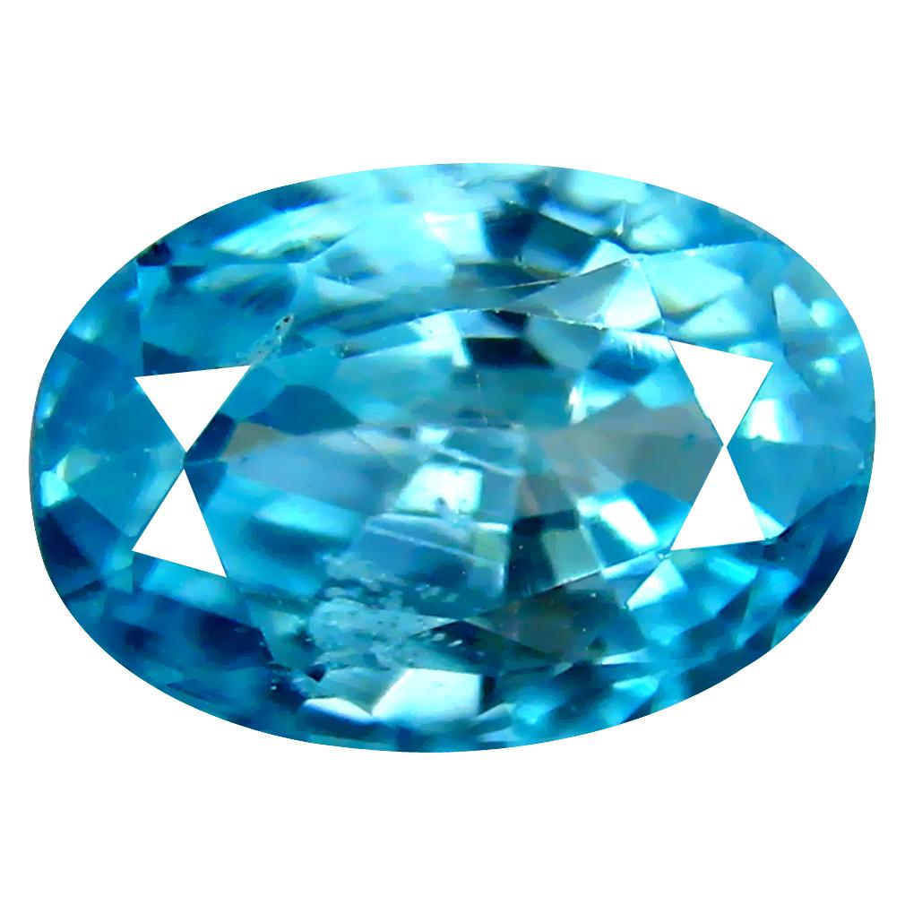 3.17 ct Elegant Oval Cut (9 x 6 mm) Cambodian Blue Zircon Natural Loose Gemstone