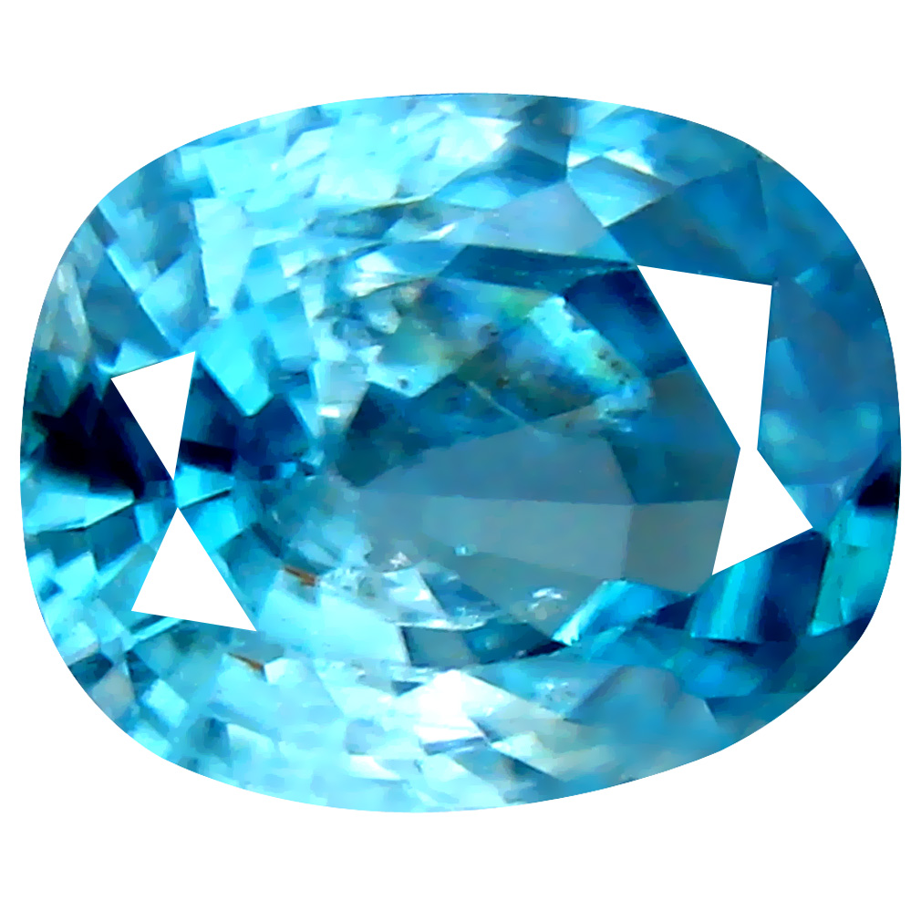 3.10 ct Sparkling Oval Cut (9 x 7 mm) Cambodian Blue Zircon Natural Loose Gemstone
