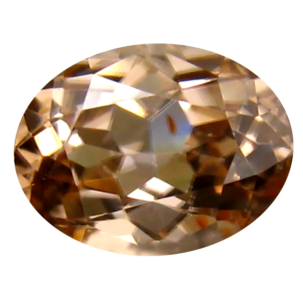 1.84 ct Fantastic Oval Cut (8 x 6 mm) Un-Heated Brown Zircon Natural Gemstone