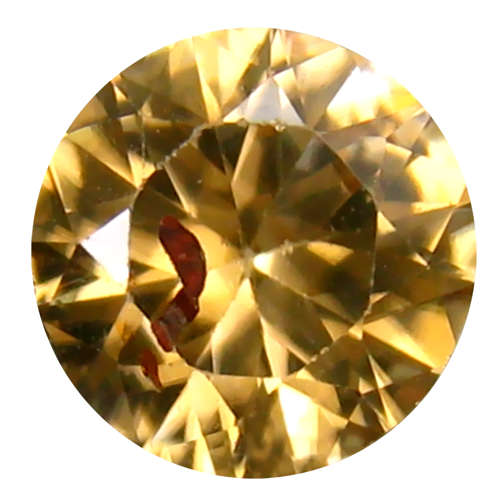 1.78 ct Good-looking 7 mm Round Shape Un-Heated Brownish Yellow Zircon Natural Gemstone