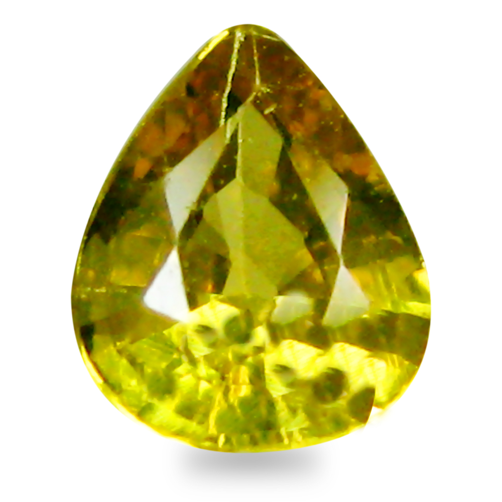 0.38 ct AAA+ Super-Excellent Pear Shape (5 x 4 mm) Natural Yellow Sapphire Loose Stone