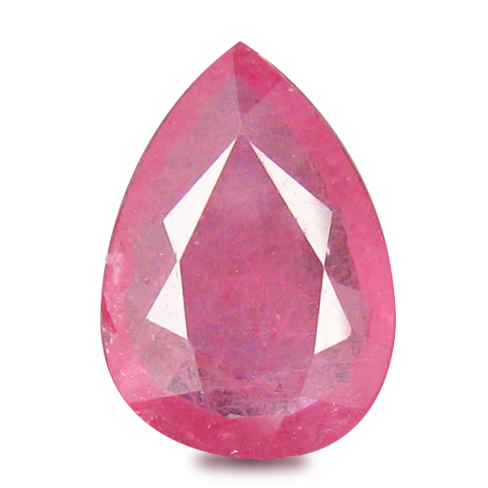 1.52 ct  Premium Pear Shape (10 x 7 mm) Red Sapphire Natural Gemstone