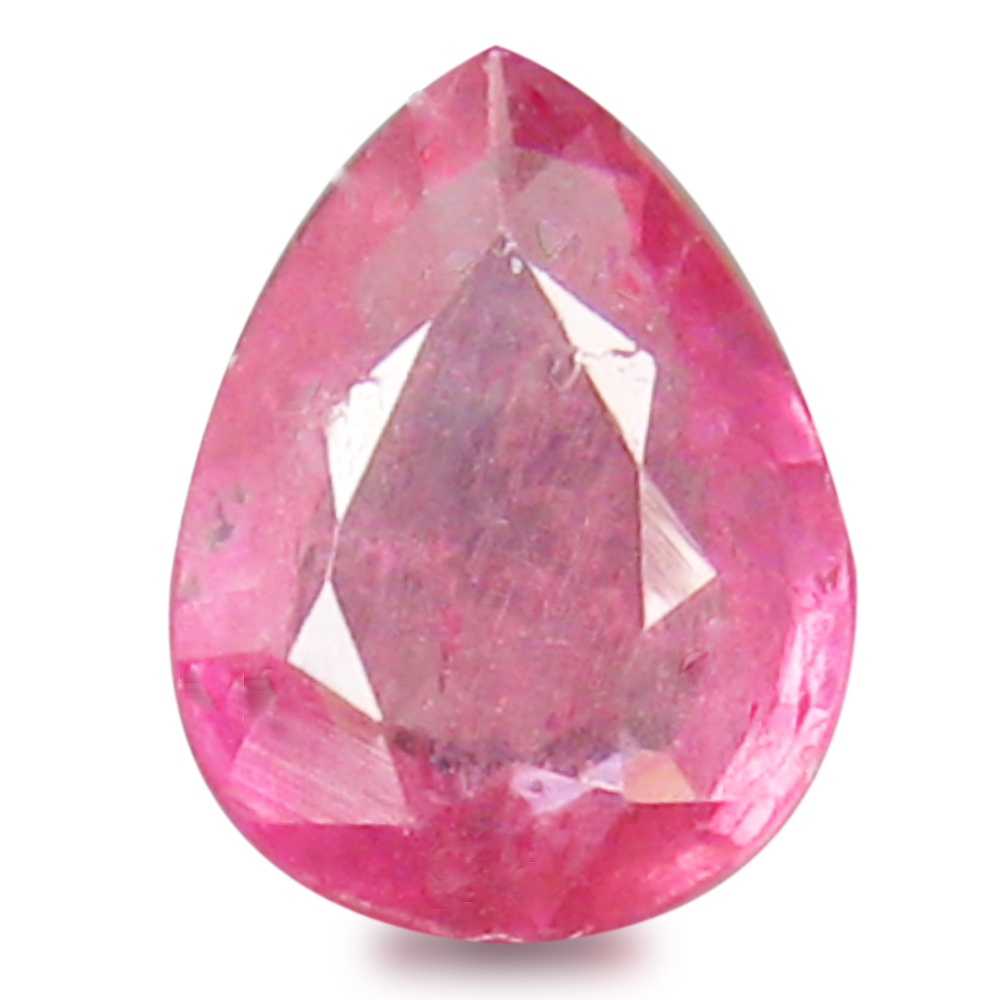 0.63 ct  Wonderful Pear Shape (6 x 5 mm) Red Sapphire Natural Gemstone