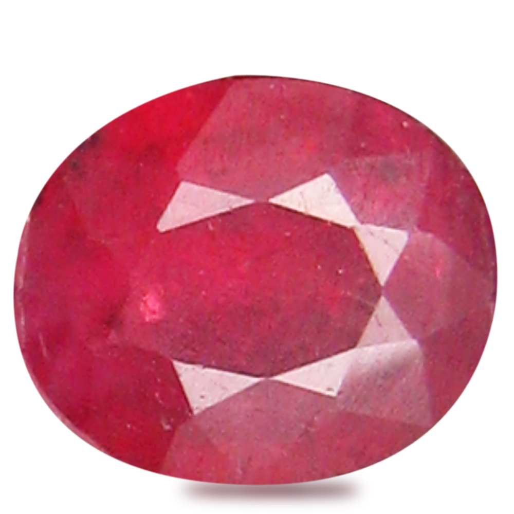 0.59 ct  Magnificent fire Oval Shape (6 x 5 mm) Red Sapphire Natural Gemstone