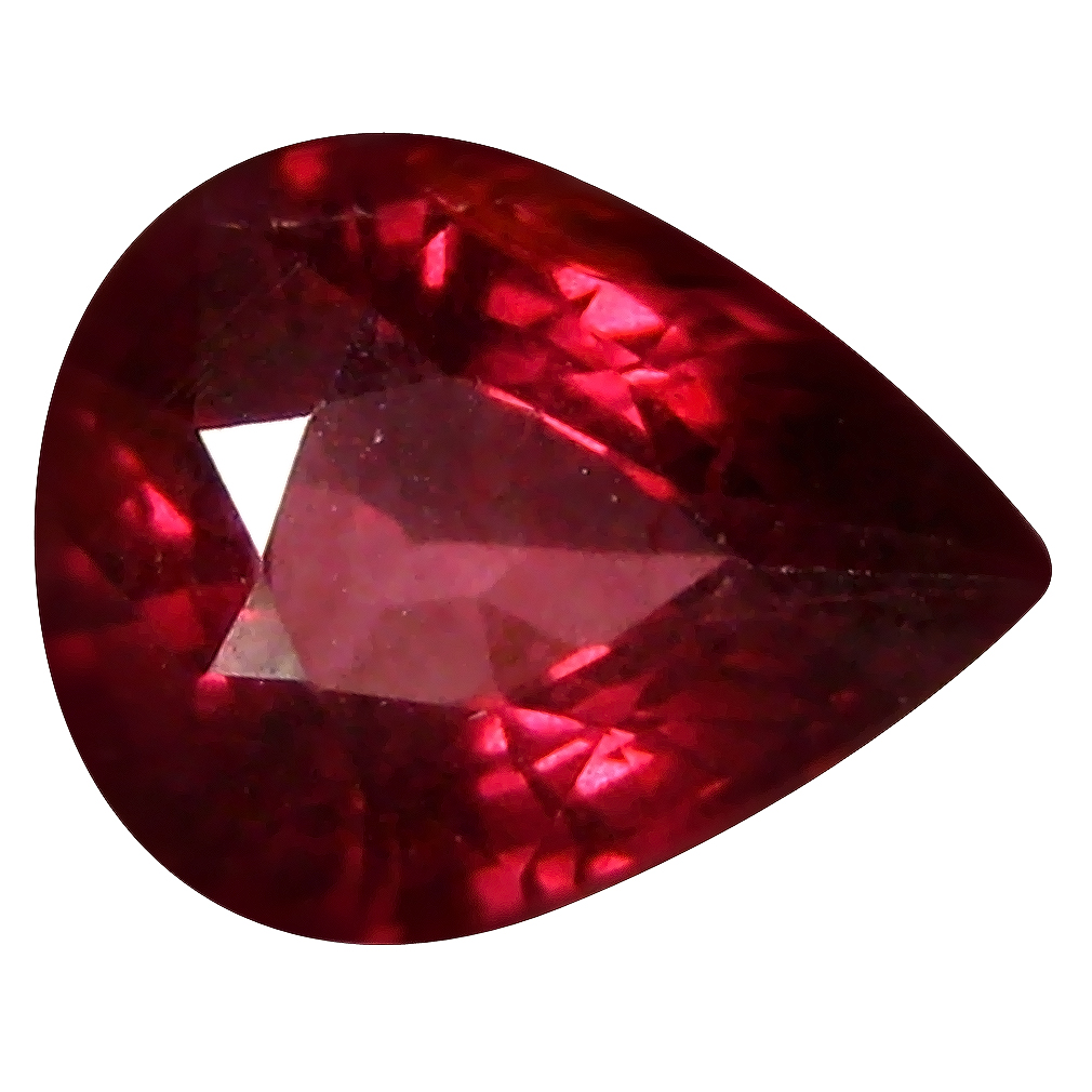 1.38 ct AAA+ Incredible Pear Shape (8 x 6 mm) Pinkish Red Rhodolite Garnet Natural Gemstone