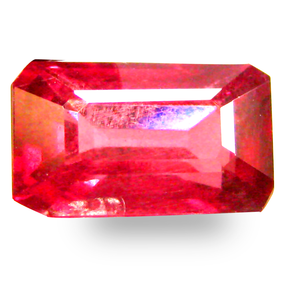 1.54 ct AAA+ Stunning Octagon Shape (8 x 5 mm) Pinkish Red Rhodolite Garnet Natural Gemstone