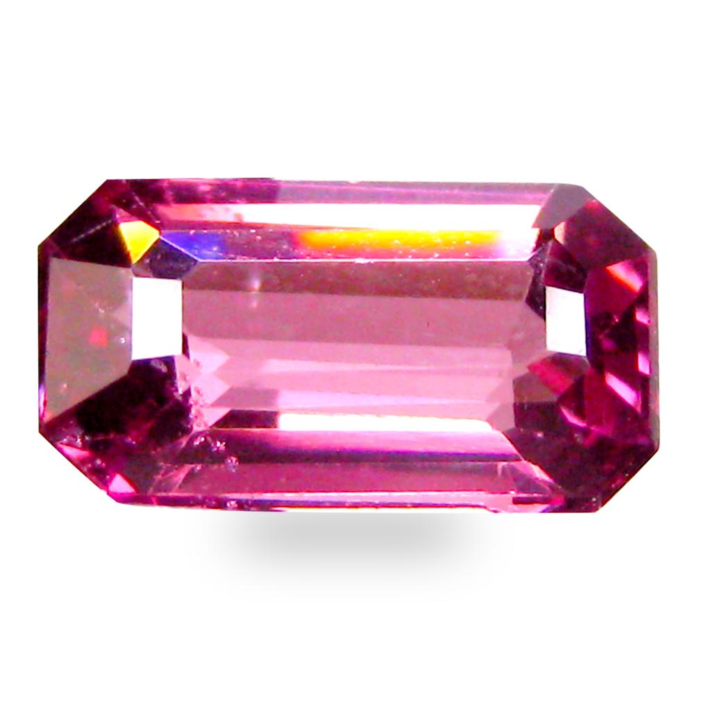1.15 ct AAA+ Impressive Octagon Shape (8 x 5 mm) Pinkish Red Rhodolite Garnet Natural Gemstone