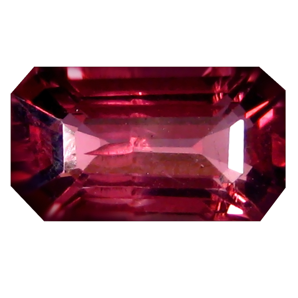 1.50 ct AAA+ Awe-inspiring Octagon Shape (8 x 5 mm) Pinkish Red Rhodolite Garnet Natural Gemstone