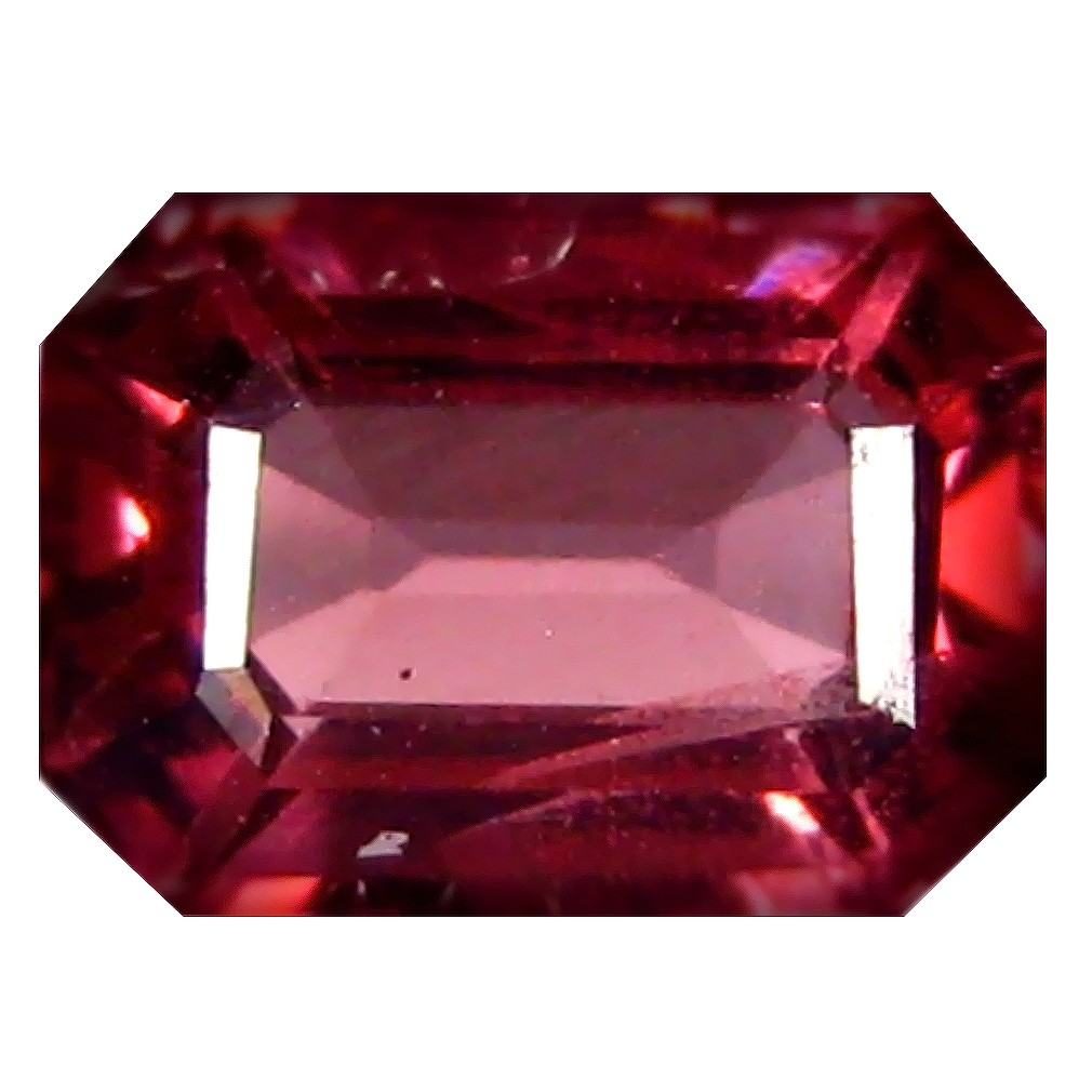 1.30 ct AAA+ Great looking Octagon Shape (7 x 5 mm) Pinkish Red Rhodolite Garnet Natural Gemstone