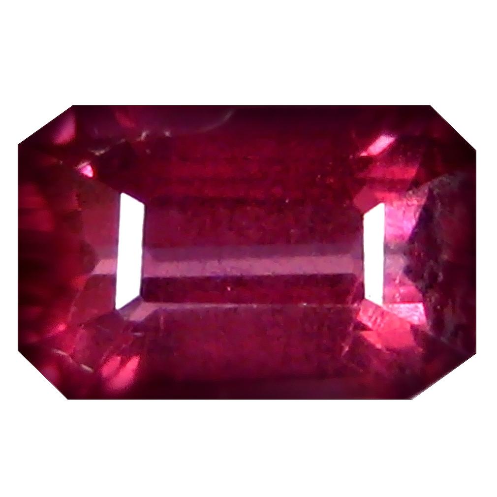 1.03 ct AAA+ First-class Octagon Shape (7 x 4 mm) Pinkish Red Rhodolite Garnet Natural Gemstone