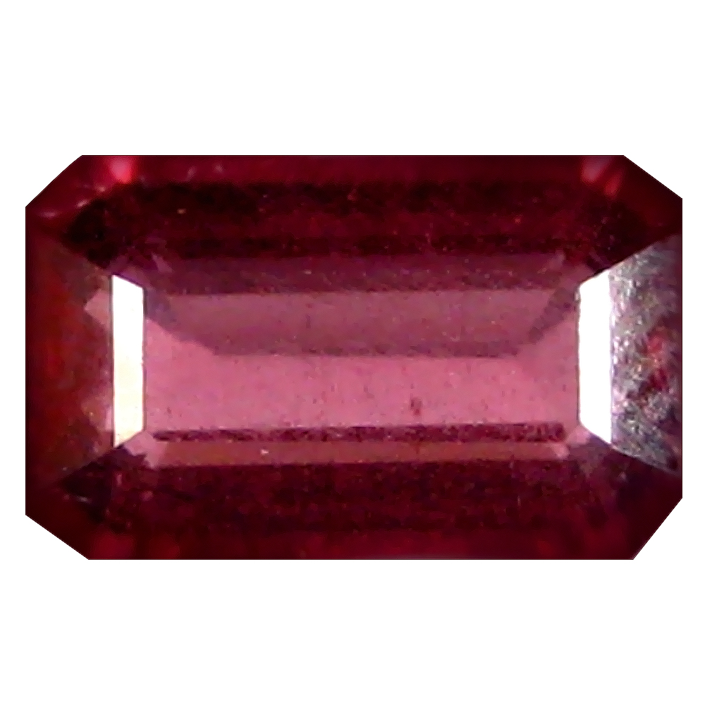 1.06 ct AAA+ Incomparable Octagon Shape (7 x 4 mm) Pinkish Red Rhodolite Garnet Natural Gemstone