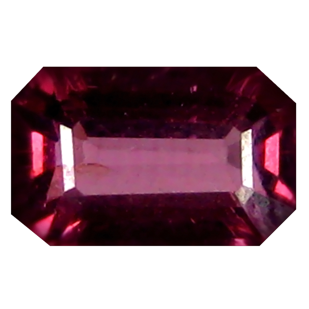 0.96 ct AAA+ Great looking Octagon Shape (6 x 4 mm) Pinkish Red Rhodolite Garnet Natural Gemstone