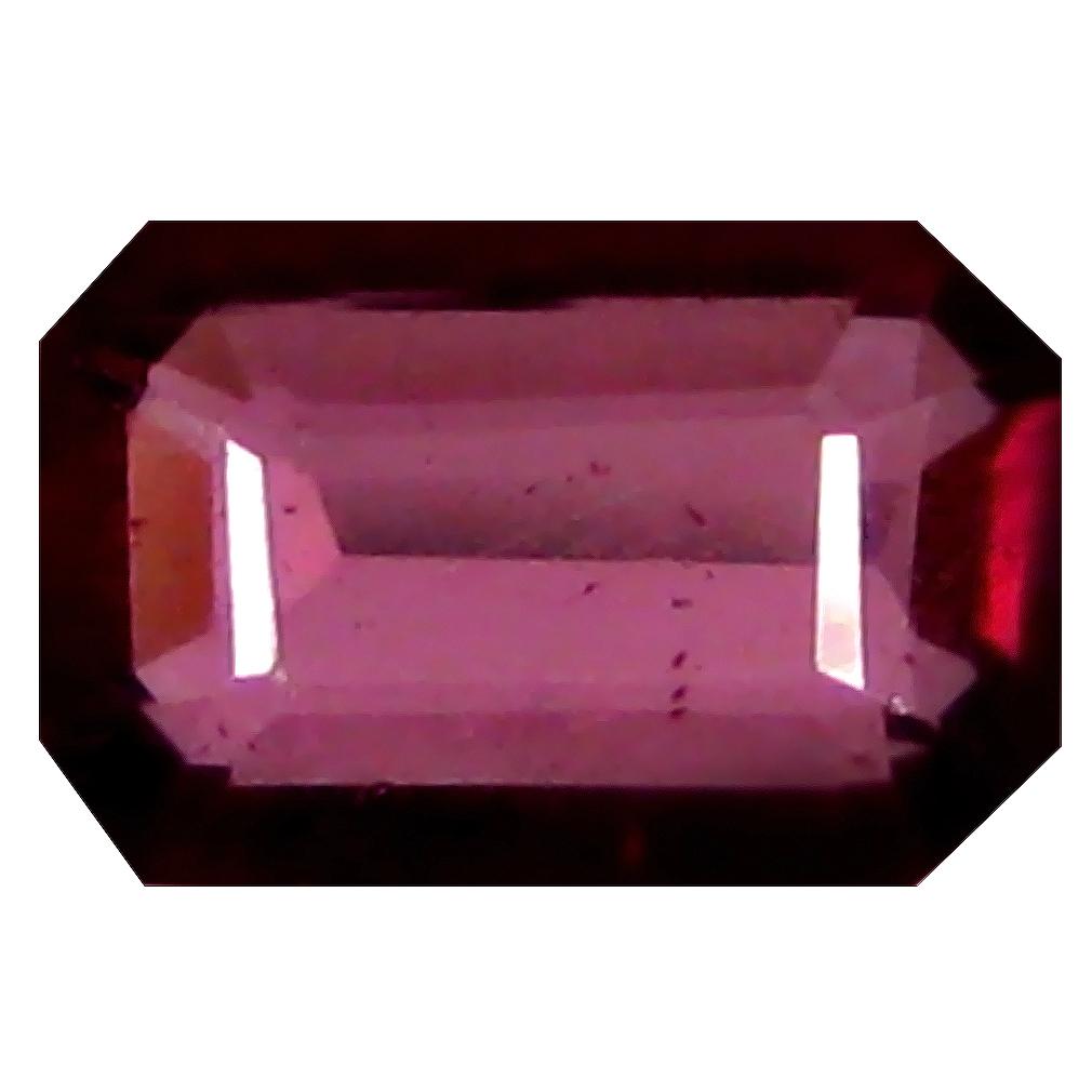1.36 ct AAA+ Grand looking Octagon Shape (8 x 5 mm) Pinkish Red Rhodolite Garnet Natural Gemstone