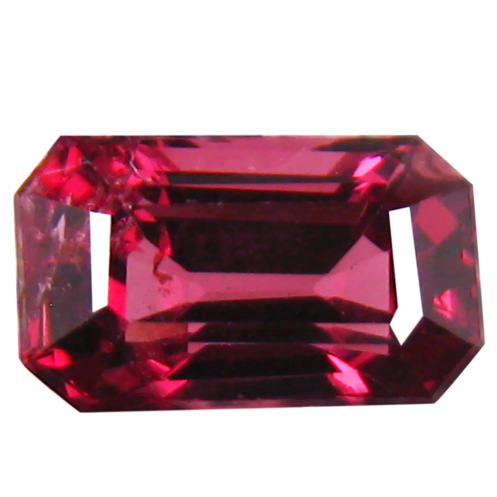 1.34 ct AAA+ Grand looking Octagon Shape (7 x 4 mm) Pinkish Red Rhodolite Garnet Natural Gemstone