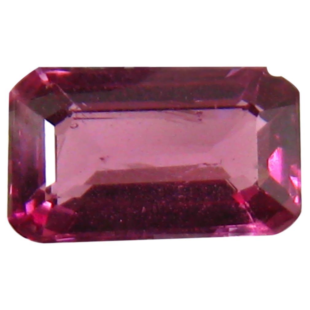 1.13 ct AAA+ Spectacular Octagon Shape (8 x 5 mm) Pinkish Red Rhodolite Garnet Natural Gemstone