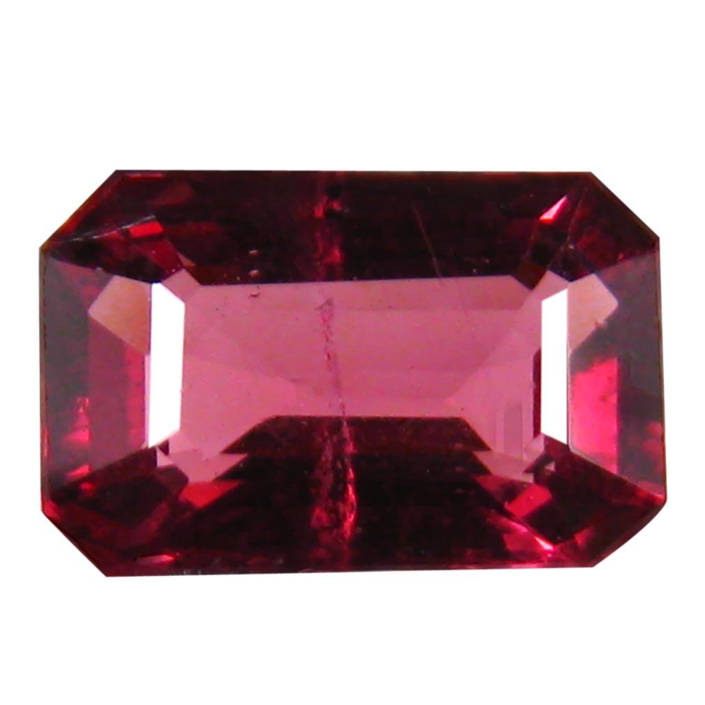 1.50 ct AAA+ Good-looking Octagon Shape (8 x 5 mm) Pinkish Red Rhodolite Garnet Natural Gemstone