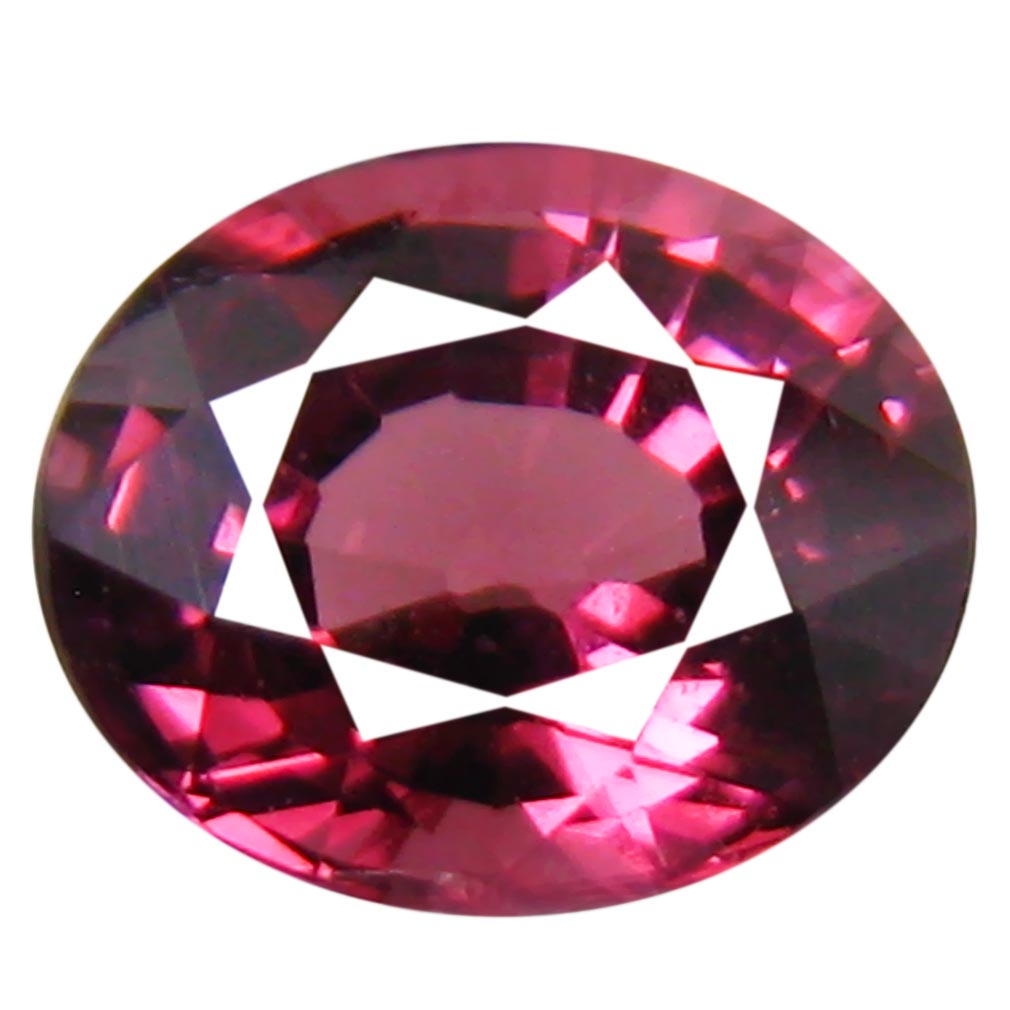 1.04 ct AAA+ Eye-catching Oval Shape (6 x 5 mm) Pinkish Red Rhodolite Garnet Natural Gemstone