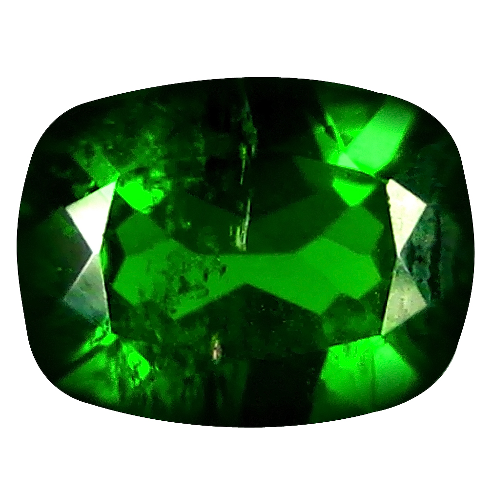 1.27 ct Excellent Cushion Cut (8 x 6 mm) Russian Chrome Diopside Natural Loose Gemstone