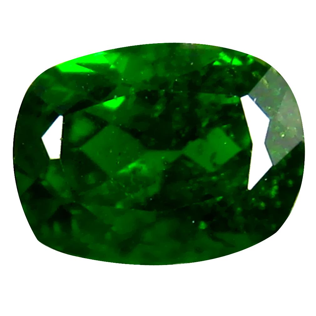 1.58 ct AAA+ Fabulous Cushion Shape (8 x 6 mm) Green Chrome Diopside Natural Gemstone