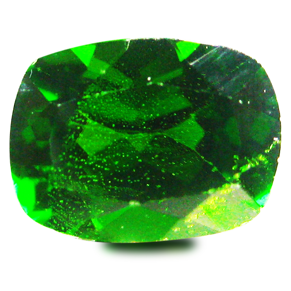 1.64 ct AAA+ Incomparable Cushion Shape (8 x 6 mm) Green Chrome Diopside Natural Gemstone