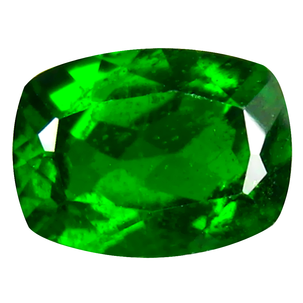 1.47 ct AAA+ Spectacular Cushion Shape (8 x 6 mm) Green Chrome Diopside Natural Gemstone