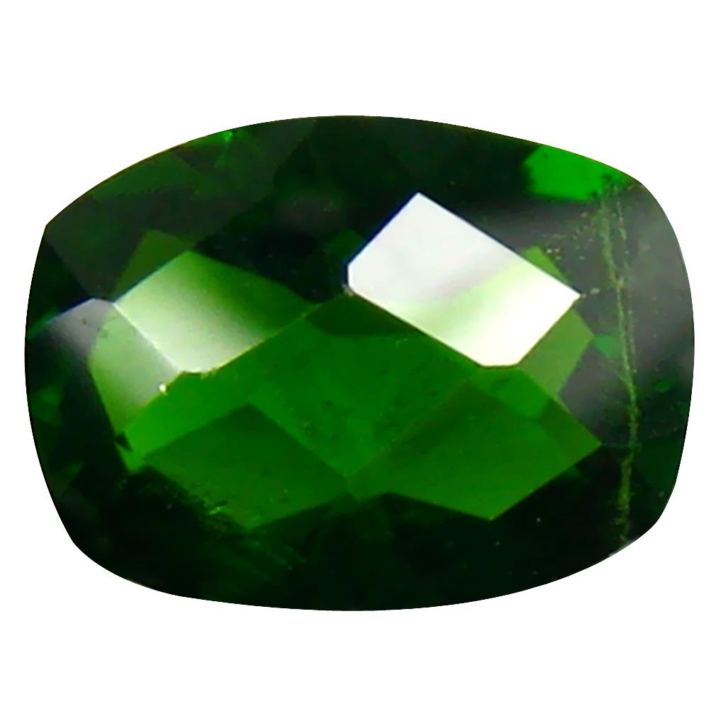 1.43 ct AAA+ Flashing Cushion Shape (8 x 6 mm) Green Chrome Diopside Natural Gemstone