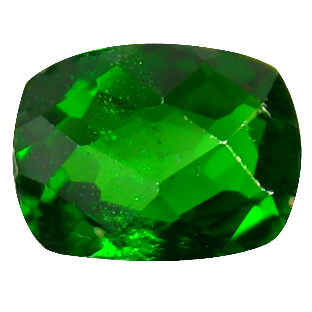 1.29 ct AAA+ Romantic Cushion Shape (8 x 6 mm) Green Chrome Diopside Natural Gemstone