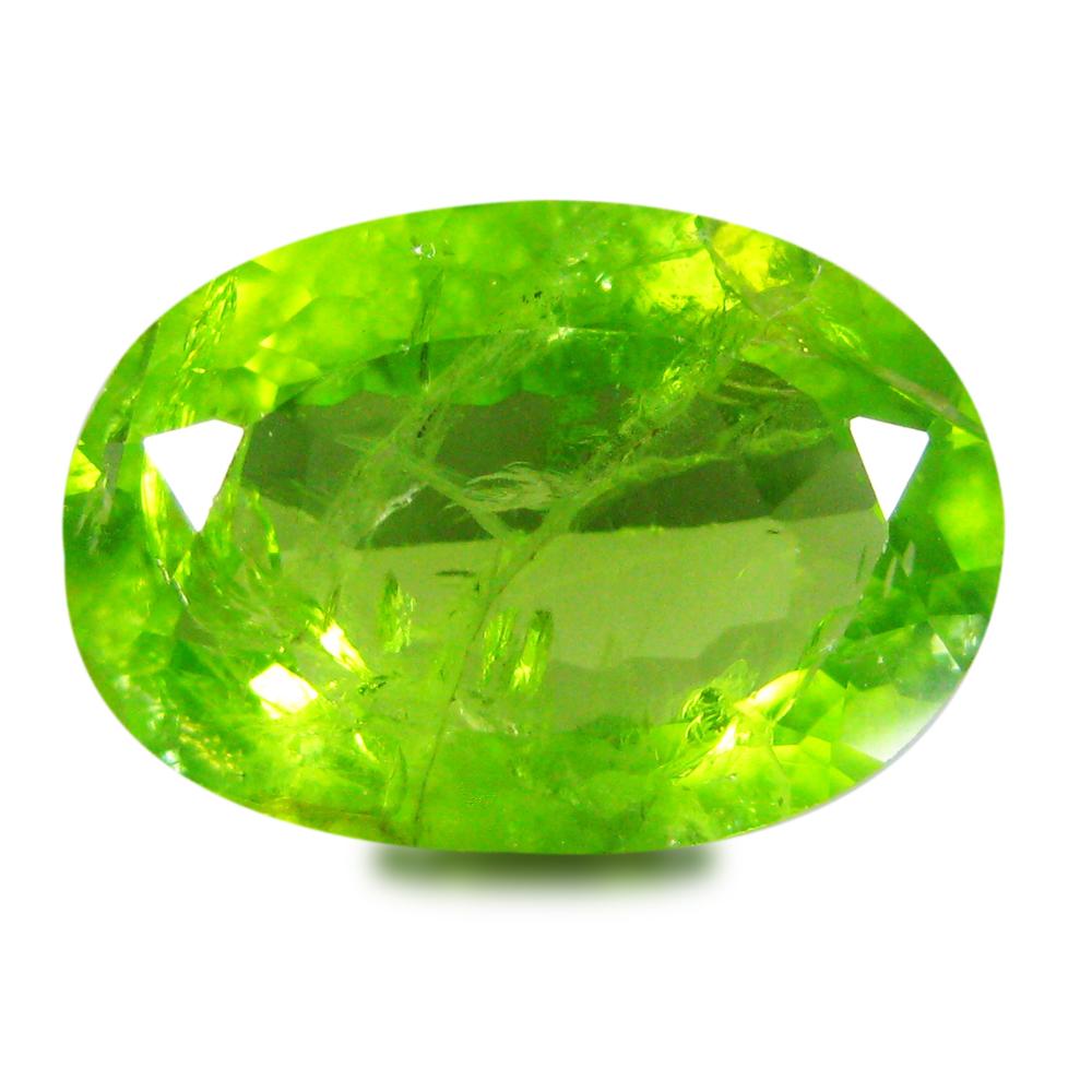 5 86 ct world class oval cut 14 x 10 mm green peridot