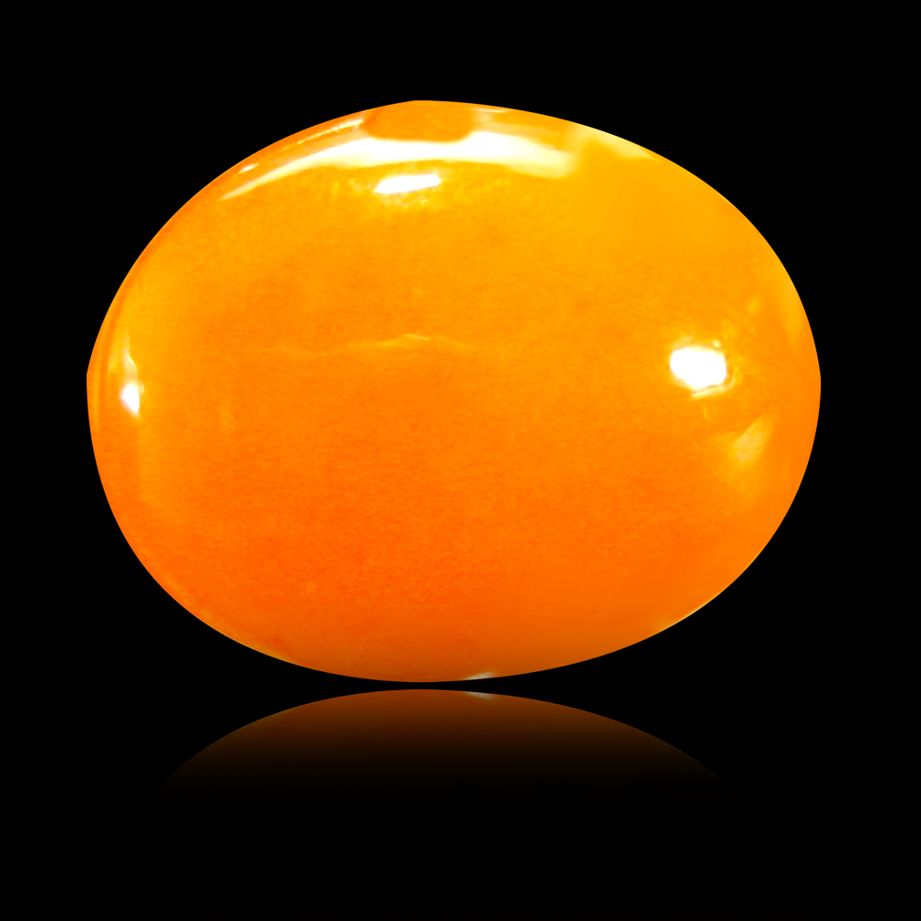 2.69 ct  Super-Excellent Oval Cabochon Shape (13 x 10 mm) Yellow Opal Natural Gemstone