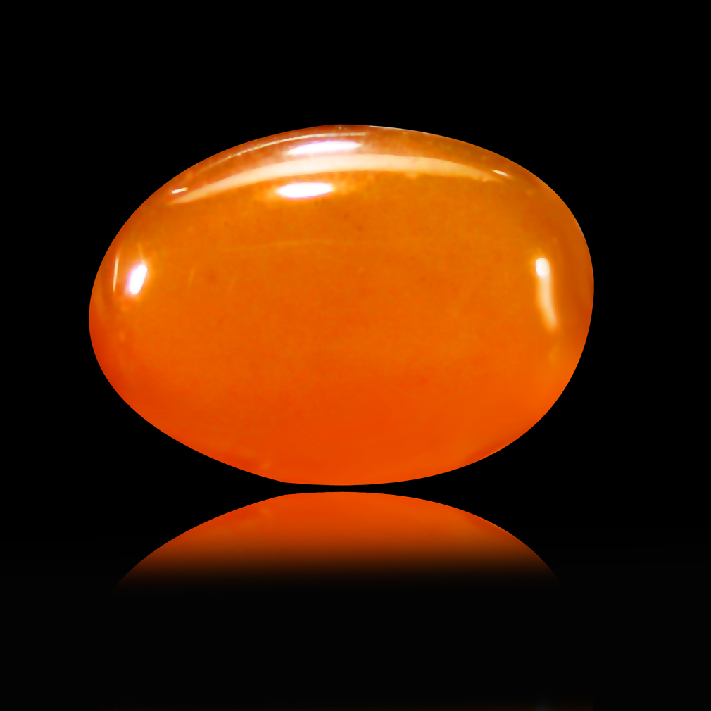 0.96 ct  Lovely Oval Cabochon Shape (9 x 6 mm) Yellow Opal Natural Gemstone