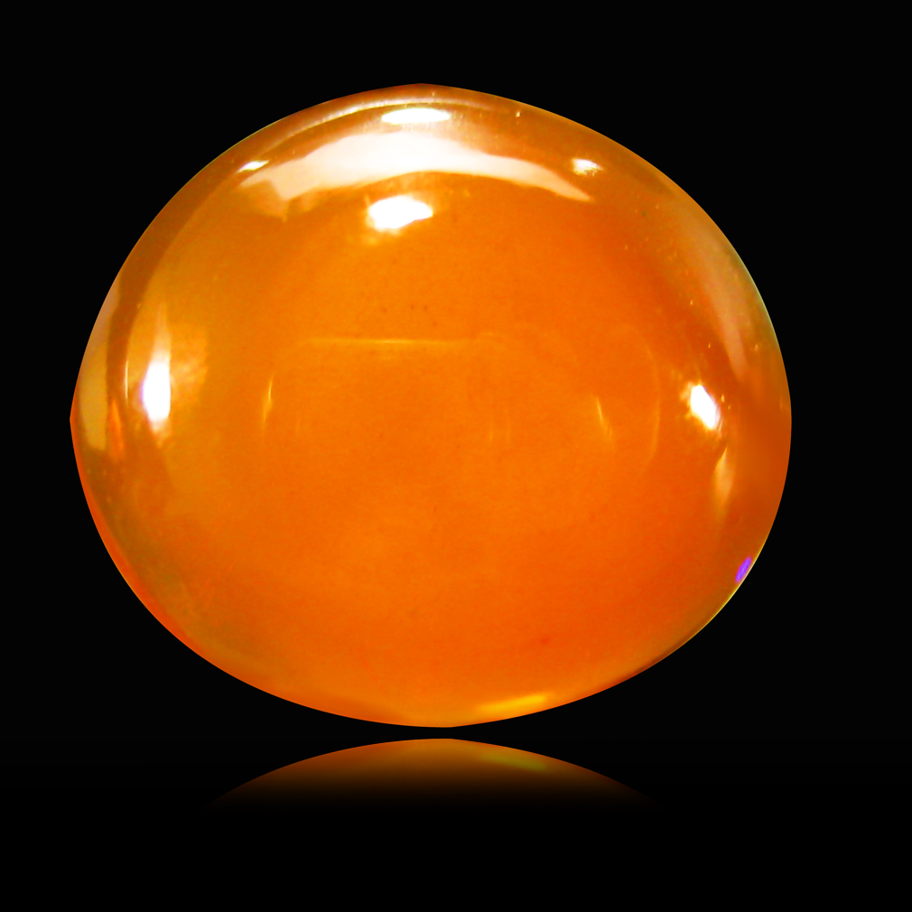 2.17 ct  World class Oval Cabochon Shape (11 x 10 mm) Yellow Opal Natural Gemstone