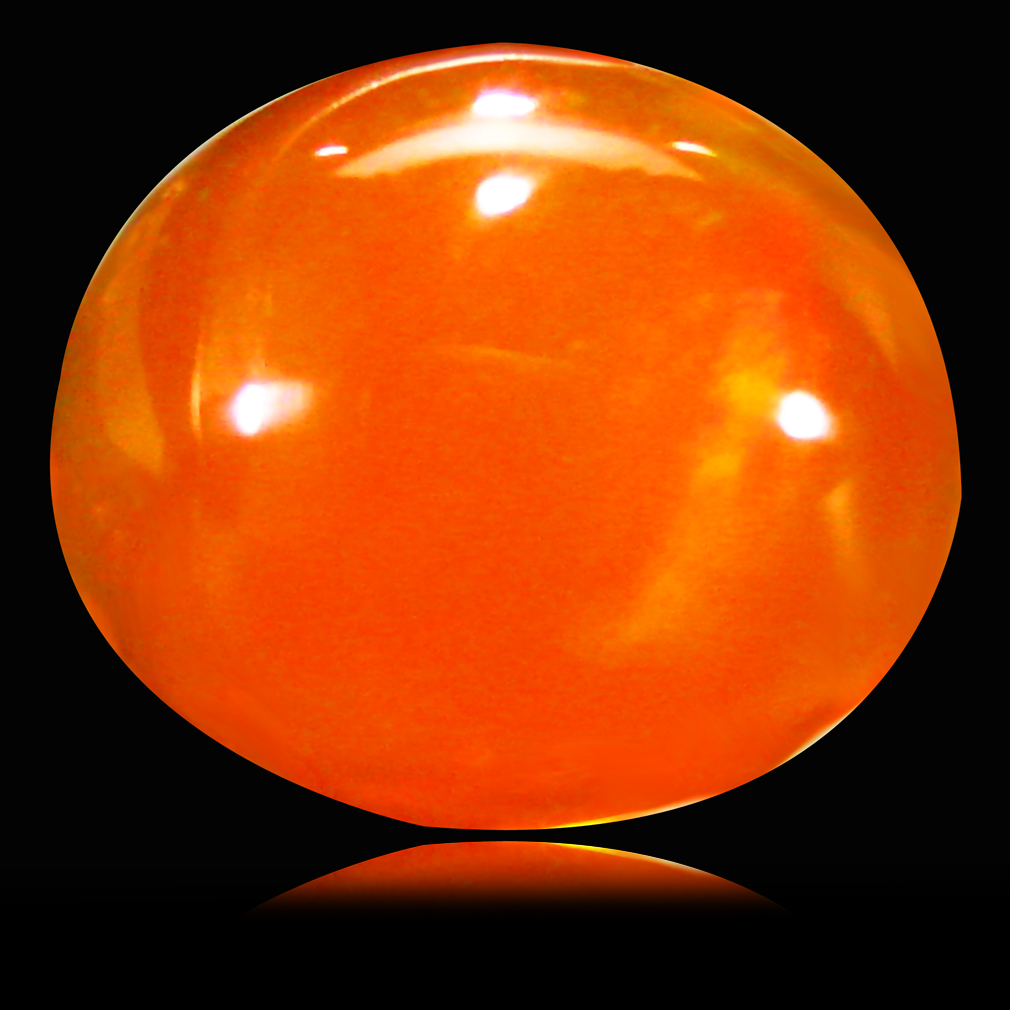 1.45 ct  Unbelievable Oval Cabochon Shape (9 x 8 mm) Yellow Opal Natural Gemstone