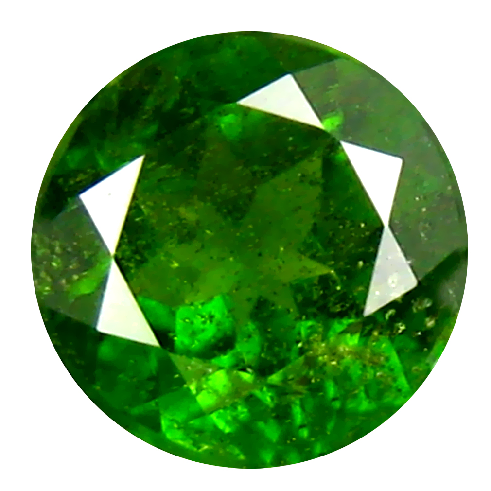 1.44 ct  Eye-opening Round Shape (7 x 7 mm) Green Chrome Diopside Natural Gemstone