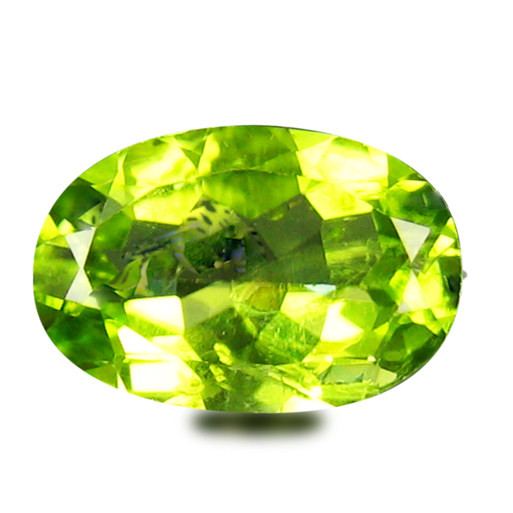 1.92 ct Beautiful 10 mm Oval Shape Un-Heated Green Peridot Natural Gemstone