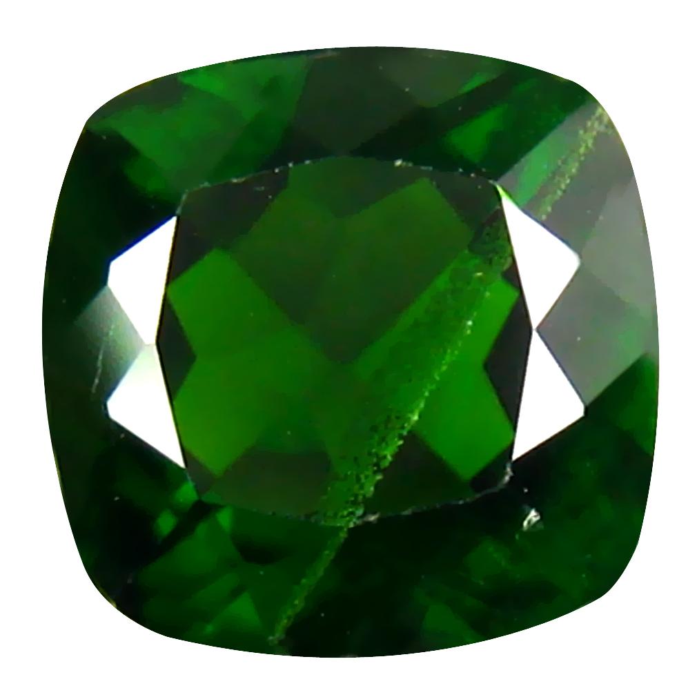 2.34 ct  Pleasant Cushion Shape (8 x 8 mm) Green Chrome Diopside Natural Gemstone