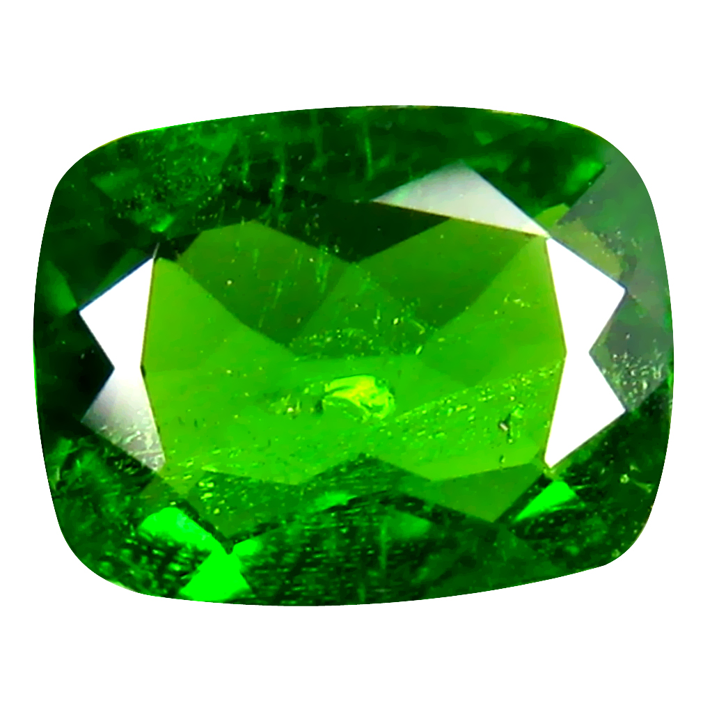 1.81 ct  Outstanding Cushion Shape (9 x 7 mm) Green Chrome Diopside Natural Gemstone