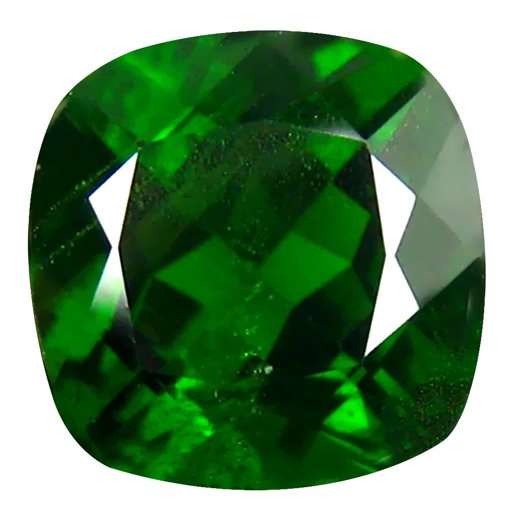 2.34 ct  Fair Cushion Shape (8 x 8 mm) Green Chrome Diopside Natural Gemstone