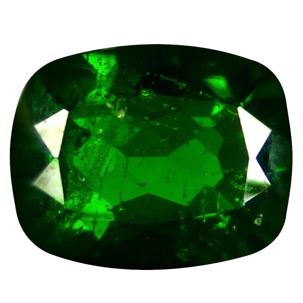 2.40 ct  Extraordinary Cushion Shape (9 x 7 mm) Green Chrome Diopside Natural Gemstone