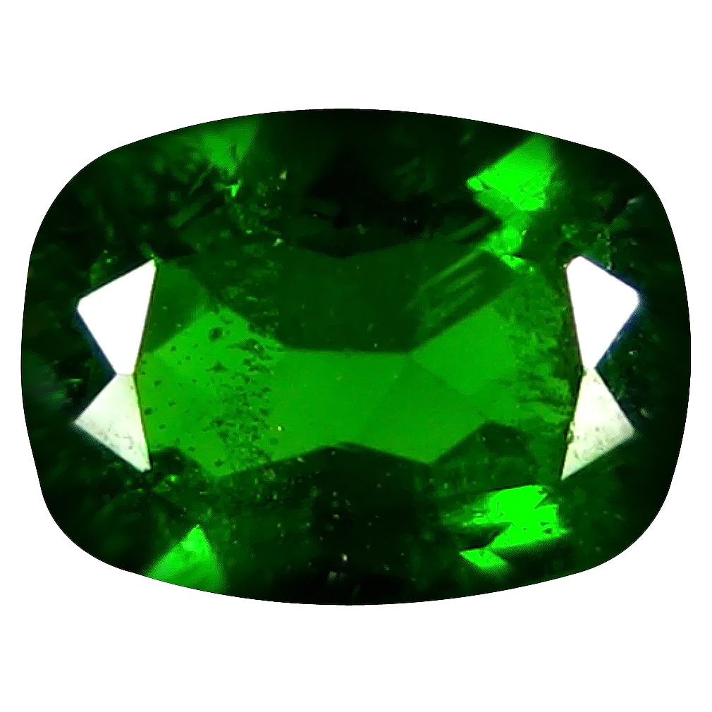 1.52 ct  Super-Excellent Cushion Shape (8 x 6 mm) Green Chrome Diopside Natural Gemstone