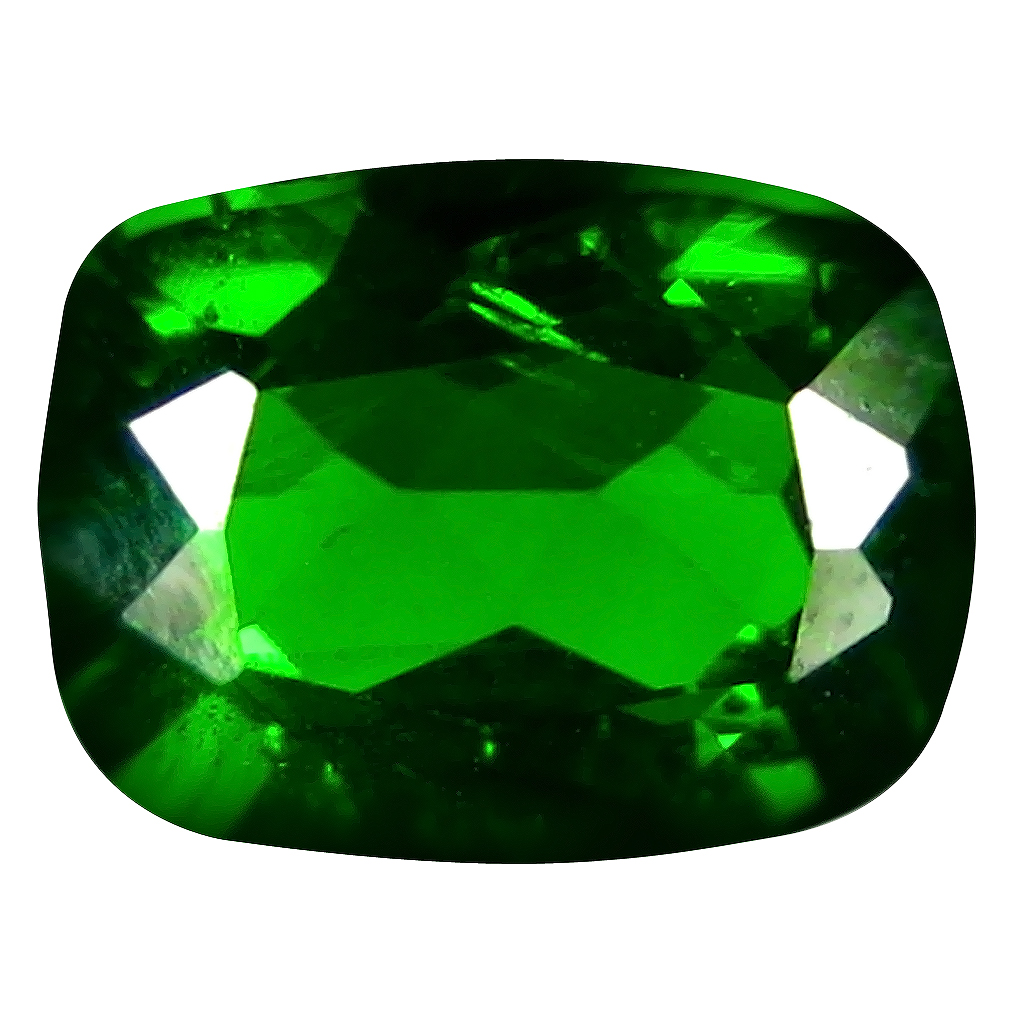 1.48 ct  Marvelous Cushion Shape (8 x 6 mm) Green Chrome Diopside Natural Gemstone