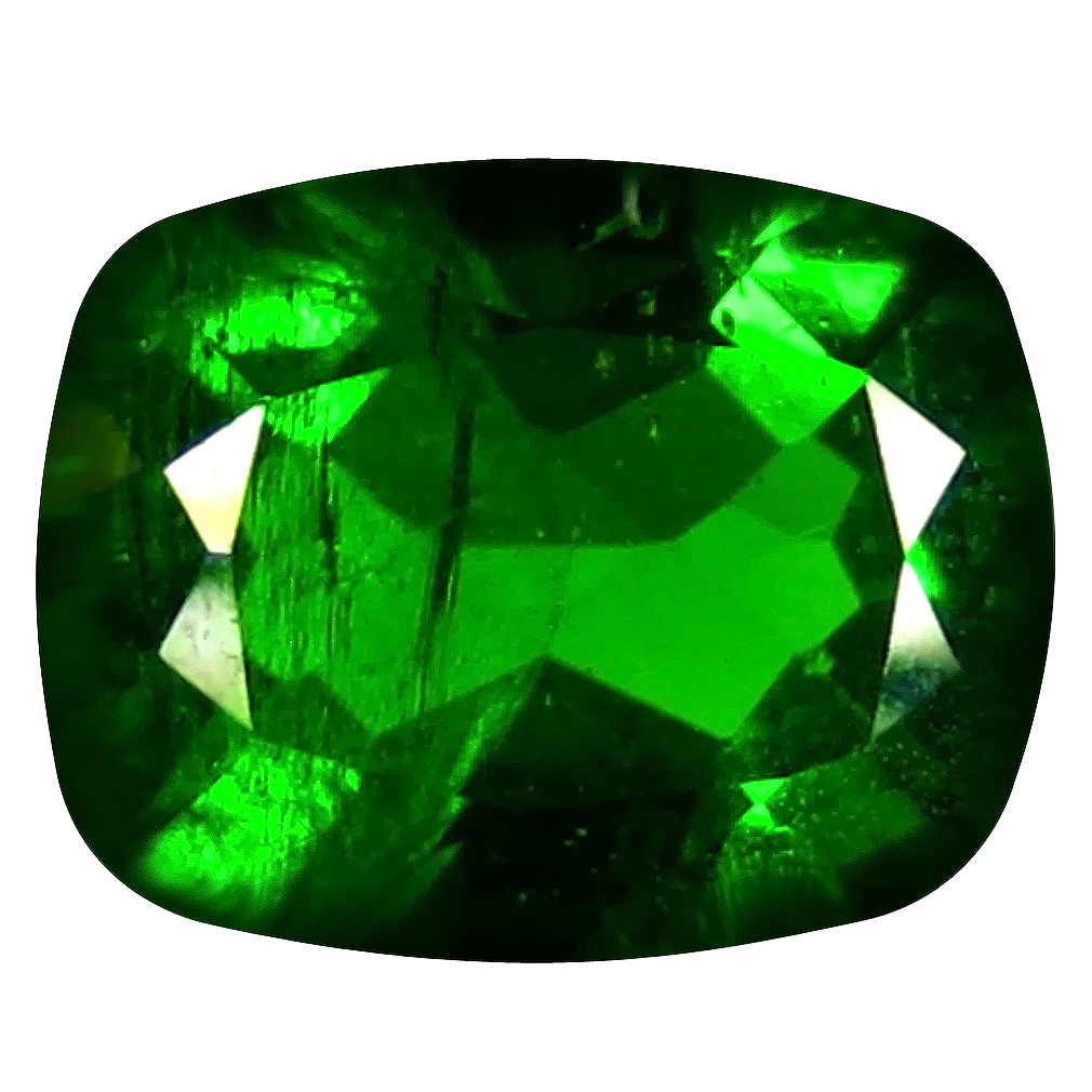 2.12 ct  Stunning Cushion Shape (9 x 7 mm) Green Chrome Diopside Natural Gemstone